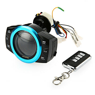 AOVEISE MT481 Motorcycle Music Audio Radio Player Alarm Blue Screen with Remoter