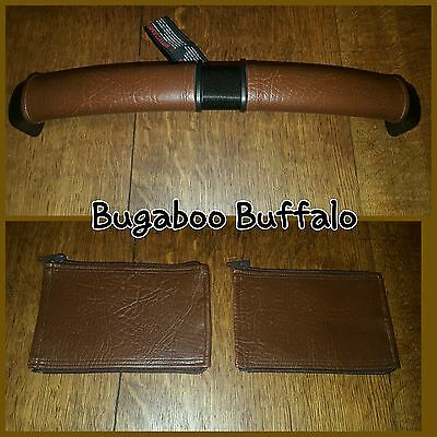 Bugaboo buffalo faux leather zip on handle bar covers in BROWN