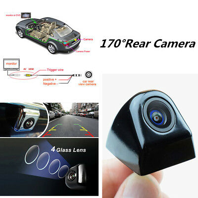 Waterproof 170°HD Car Rear View Backup Reverse Parking Camera Night Vision Black
