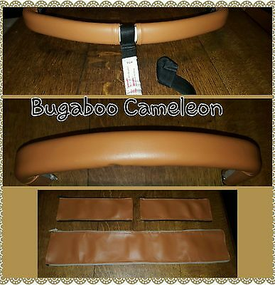 Bugaboo Cameleon 1 2 faux leather zip on handle bar and bumper bar in TAN