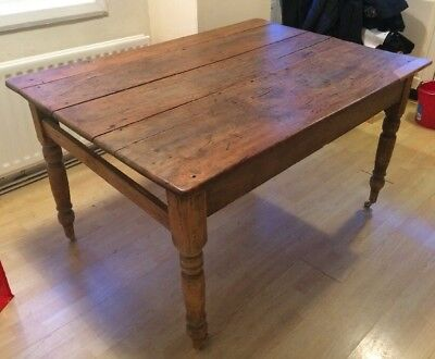 Victorian Dining Table Antique Farmhouse Shabby Chic