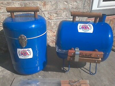 Pabst Blue Ribbon NA Beer Metal Cooler & Grill Combo VERY RARE EXCELLENT