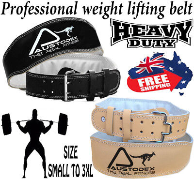 NEW 4 INCH Weight lifting bodybuilding weightlifting back support Leather Belt