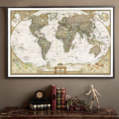 Deluxe Off World Journal Map Personalized Wall Travel Poster Atlas Decor 72*47cm