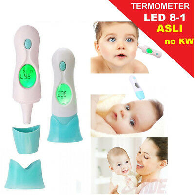 8 In 1 Baby Infrared Termometer LCD Display Digital Ear Forehead Thermometer BS