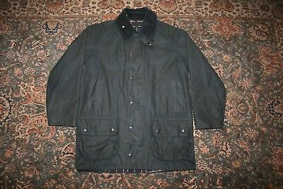 Barbour Beaufort Lined Waxed Cotton Coat Jacket 38 S Made in England