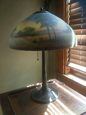Jefferson Reverse Painted Table Lamp Arts And Crafts