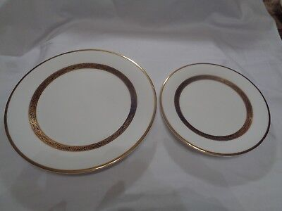 Vintage Royal Doulton Harlow H5034 Bone China Dinner & Salad Plate!  Excellent!!