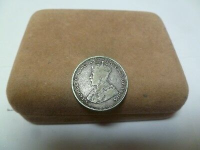 1927 Straights Settlement 20 Cent Silver Coin