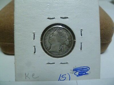 1900 Straights Settlement 10 Cent Silver