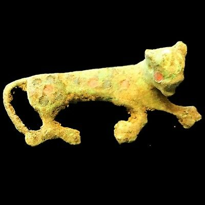 Very Rare Roman Ancient Bronze Enamelled Fibula Brooch 700-800 A.d. (1)