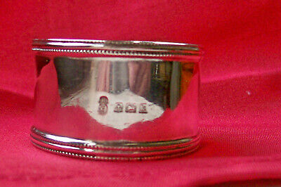 Nice Antique Solid Silver Napkin Ring Birmingham 1909.by H&Co