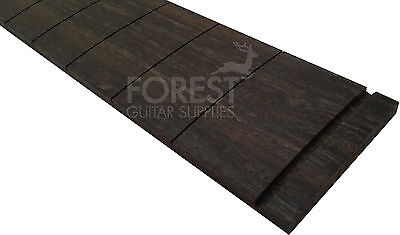 "Ebony guitar fretboard, fingerboard 25.5"" Fender ® slotted,compound radius 10-16"