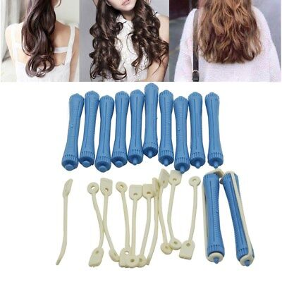 Sleep Styler For Long Hair Roller 12pcs Perm Rods With Rubber Bands Plastics