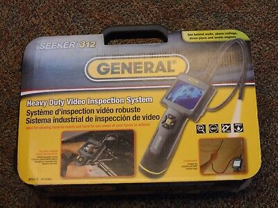 General Tools Heavy Duty Video Inspection System w/ Case DCS312 -Used 1 Time-