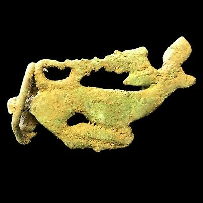 Very Rare Roman Ancient Bronze  Fibula Brooch 700-800 A.d. (2)