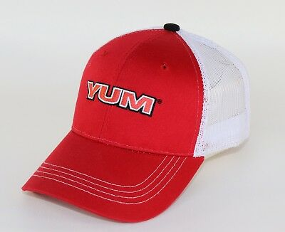 New Yum Fishing Baits Trucker Cap Hat Adjustable Red and White