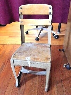Old-School 1900-1950's Vintage Child's Classroom Chair