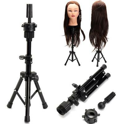 Tripod Hair Training Mannequin Head Adjustable Hairdressing  Stand Holder Clamp
