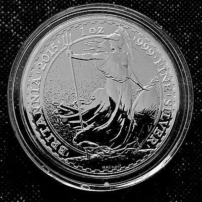 2015 Britannia Great Britain 1 oz .999 Fine Silver Coin Q3