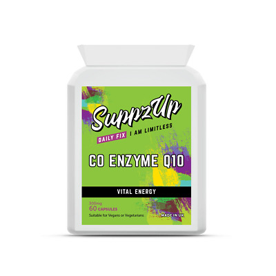 Suppzup Co-Enzyme CoQ10 300mg 60 Vegetarian Capsules Supports Energy Production