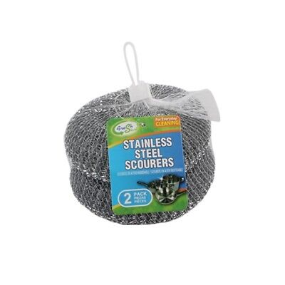 2 pack JUMBO Scourer Pads-Stainless Steel Scrubbers, Multi Purpose