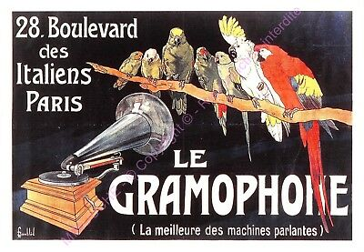 CP AFFICHE REPRODUCTION LE GRAMOPHONE  Edt CARTEXPO 10767