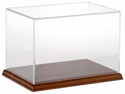 "Plymor Brand Clear Acrylic Display Case with Hardwood Base, 9"" W x 6"" D x 6"" H"