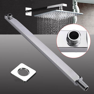 Long Square Ceiling Solid Chrome Wall Mounted Extension Arm For Shower Head HOT