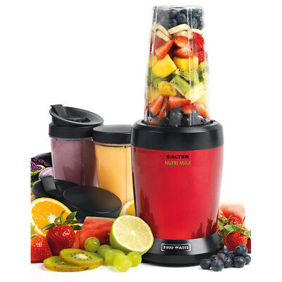 Salter Nutri Max 1000W Multi Blender Superfood Extraction Red and Black