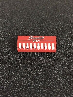 Grayhill 76PSB10 Grayhill DIP Switches - Lot of 10 pieces