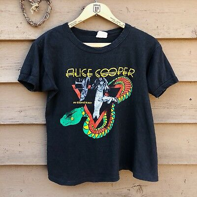 Vintage Alice Cooper 1970s Welcome To My Nightmare T-shirt Double Sided Snake