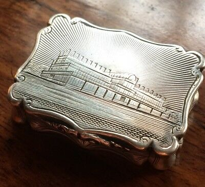 Victorian Silver Box By Nathaniel Mills Crystal Palace 1850 The Great Exhibition