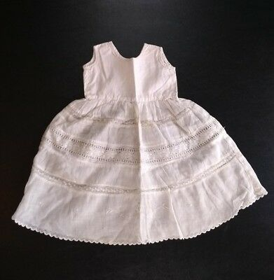 Antique Vintage Lace Embroidered Infant Girls Slip For Baby or Doll