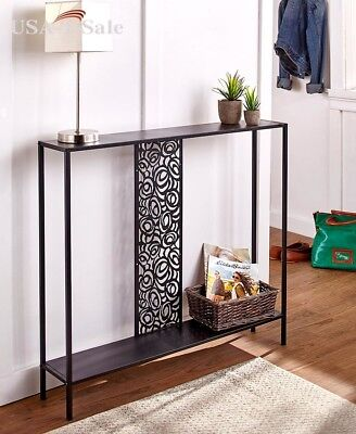 Metal Console Table Entryway Hallway Front Entry Sofa Narrow