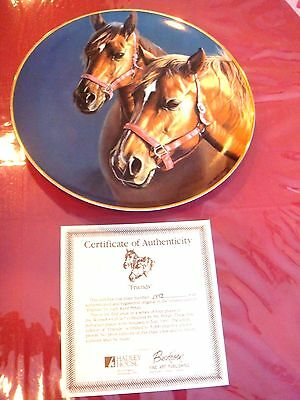 Friends Horse Plate By Judy Kent Pyrah  With Coa