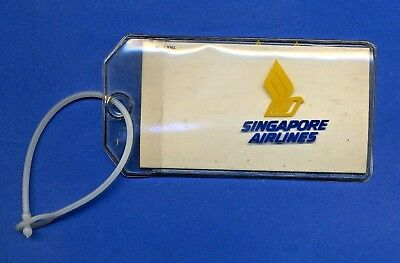 Singapore Airlines Collectible Luggage Tag 1980's  USA SELLER