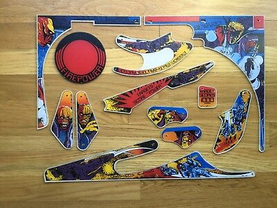 Awesome Firepower pinball plastic set. New reproduction Firepower plastic set.