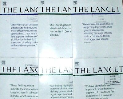 Lancet  Magazines. x6 Consequetive  from Feb/March 2006. Issues 9508 -9513