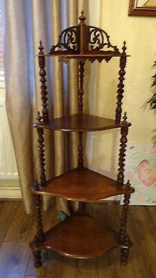nice Antique mahogany corner stand with four shelves