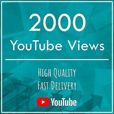2000 YouTube V!ews | Marketing Service | Fast Delivery | High Quality | SEO
