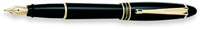 Aurora Ipsilon Resin Black Medium Point Fountain Pen - AU-B11N-M