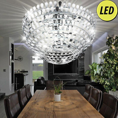CHROME LUXUS LED Lampe de plafond vagues design éclairage LA VIE ...