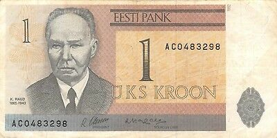 Estonia 1 Kroon 1992 P.69, Circulated