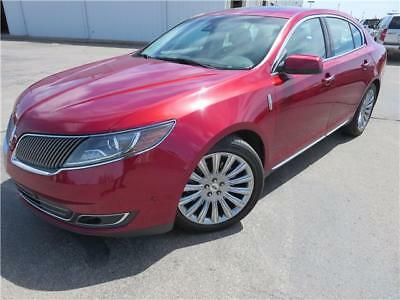 MKS -- 2013 Lincoln MKS  Ruby red metallic tinted 4dr Car V6 Cylinder Engine 3.7L/227 A