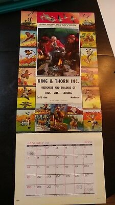 Vtg  ORIGINAL  CALENDAR TOP SALESMAN SAMPLE   GAME BIRD & WILDLIFE  #101 hunting