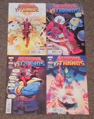 Deadpool vs Thanos #1, 2, 3, 4 - complete set  Unread/NM (Marvel Comics)