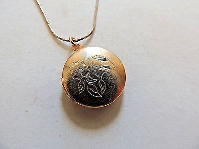 "Vintage Classic 12K Gold Filled ""Locket"" & .925 Sterling Silver Italian Necklace"