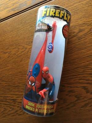 New Firefly Spiderman Sonic Toothbrush with Extra Brush Head