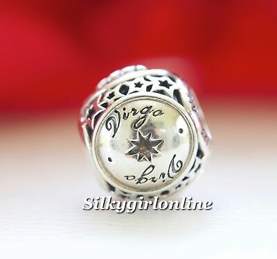 fe64b82d0 Authentic Pandora Sterling Silver Zodiac Virgo Star Sign Charm Bead 791941